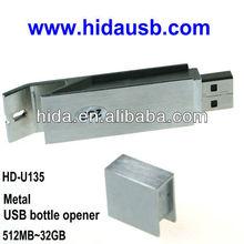 Metal usb flash drive bottle opener,USB bottle opener