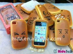 Bread Hamburger Style PU Soft Case Skin for iPhone 4 4G