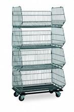 Lower price folding wire box on wheels(RHB-SP019)