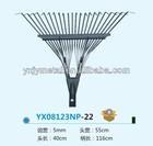 22Tine/teeth High carbon steel/garden rake