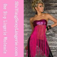 2014 sex girls photos open Sequin Long Fringe clubwear