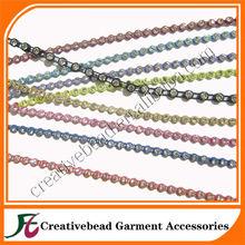 Plastic rhinestone trims garment trims accessories rhinestone diamante trim wholesale made in china