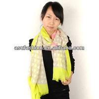 Promise Yellow Love Fluorescence Design Chiffon Fashion Scarves