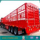 stake semi trailer, 3 axle cargo truck trailer