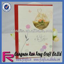 Handmade Flower Decoration Greeting Card