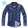 Wholesale brand summer apparel latest denim dress shirt design for men