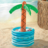 Inflatable palm tree in pool