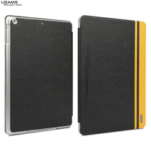 leather case for ipad air,USAMS brand new case for ipad 5