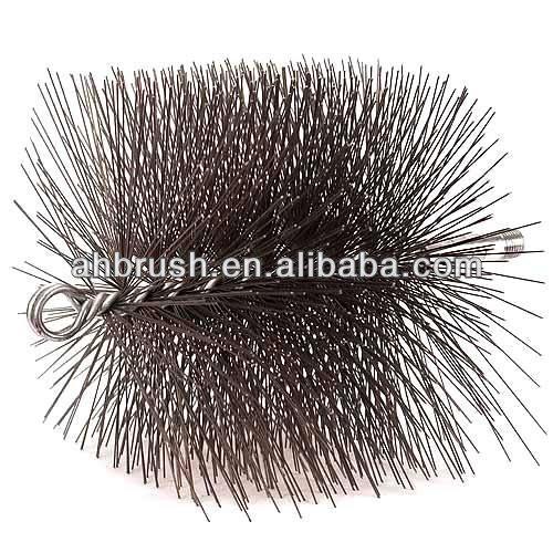 Ritorto core tubo spazzola di nylon lungo pennello fine/spazzacamino pennello per camino