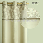 Wholesale embroidery window curtain with grommets