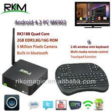 Rikomagic android smart tv box full hd MINI PC Webcam 5 Million Pixels, 2GB DDR3 8G/16G Flash,5 million pixels camera