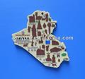 Mapa design imãs de geladeira/mapa do país em forma de adesivo imã de geladeira de souvenirs
