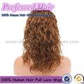 Preços baratos 5a nível superior 4# crespos naturais das filipinas cabelo perucas cheias do laço com preços no atacado