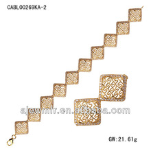 Wholesale Cubic Zirconia 18K gold bracelet model