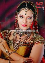Wholesale Indian DULHAN bridal jewelry-CZ diamond one gram gold kundan bridal jewelry-Antique Full bridal jewelry set