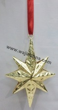 Decorations For christmass Gold plated hanging items