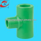 ppr plastic pipe reducing tee