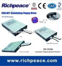 USB floppy drive converter on Wiltron Model 360B Vector Analyzer