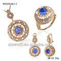 classique 18k bijoux en or pour femme ensemble avec cz perle dessins