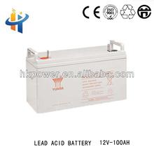 Yuasa rechargeable lead acid batetry. 12V 100AH solar gel battery,back up battery