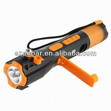 Vehicle 8 in 1 Crank Winding Dynamo Led Torch Flashlight, Safety Hammer with Mobile Charger