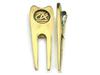 2014 high quality metal golf fork tool golf divot tool, custom made die casted high quality metal golf divot tool