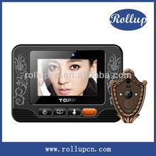 high definition door alarm, auto video door intercom, prevent peeping viewer