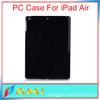 New back clear/solid hard black plastic case for ipad mini