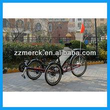 Electric folding trike recumbent bike for Adult