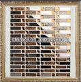 murale decorativo mattonelle di mosaico a parete montato piastrelle a mosaicoin metallo fashional forma vendita caldain acciaioinox placcatura oro foglio mosaici