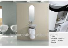 Corner bathroom cabinet furniture with vessel sink