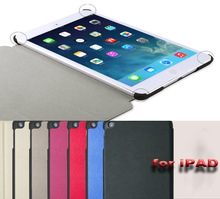 ultra-thin three folds leather protective case cover for iPad 5 cover cases