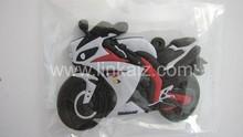 custom promotion 3d motorcycle shape rubber keyring