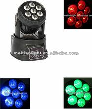 Cheap 7PCS 10W Quad Color RGBW 4 In1 Led Mini Wash Moving Head Light