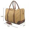 Large capacity canvas travel shoulder bag for men