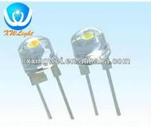 0.5W 0.75W Super Bright LED 8mm Straw hat lamp