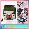 professionable factory supply 3d case for ipad tablet case with zipper and belt