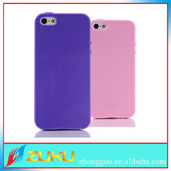 TPU Jelly solid color rubber soft case for iphone 5