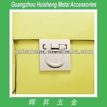 Fashion top quality metal handbag turn lock closures