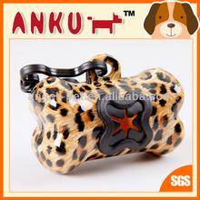 Pet Product/Dog poop bag/Dog waste bag dispenser with yellow leopard