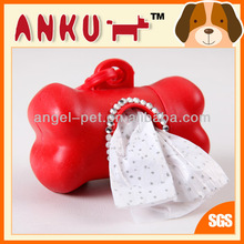Pet Product/Dog poop bag/Dog waste bag red dispenser with circle diamond