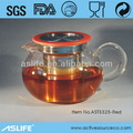 Yeni varış 2014! El üfleme payreks cam demlik çıkarılabilir 304 paslanmaz çelik filtre