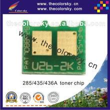 (CS-UHU2) universal toner cartridge reset chip for HP CE285A CC435A CC436A CE285 CC435 CC436 CE 285A CC 435A 436A bk 1.6K