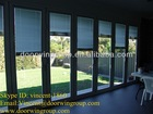 Aluminum Folding Doors with Internal Shutter and Blinds