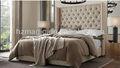 estilo europeu moderno hotel mobiliário de quarto de volta king size cama estofada