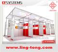 Diseño de los establos de visualización personalizada y construcción del Sistema Ling Tong Exposiciones