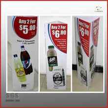 plastic sign board poster stand/plastic corflute sign/corrugated plastic sign