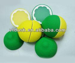 Custom PVC portable fruit usb 2.0 flash drive lemon orange Shaped 8GB 16GB USB Flash Memory Driver