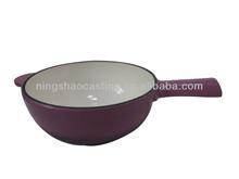 cast iron enamel cheese pot/sauce pan