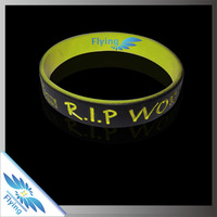 Doubel layer eco-friendly personalized printed rubber bracelet